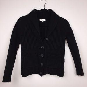 Madewell Shawl Collar Rib Cardigan Sweater Black S